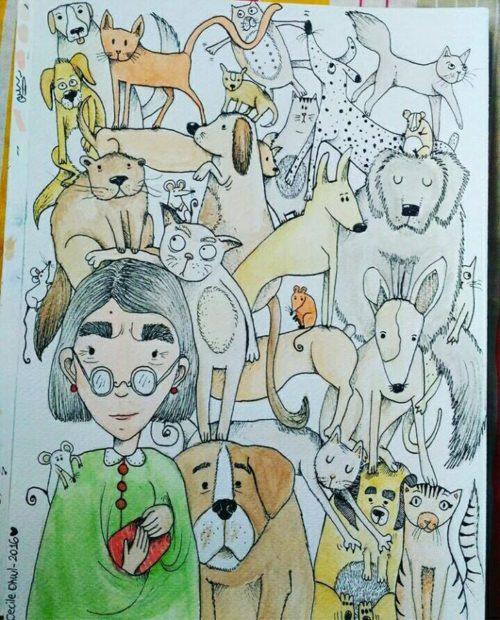 Nonnina con cani Ohwl_Tulipando