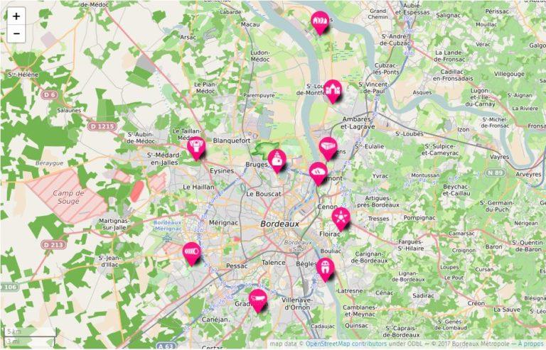 Bordeaux dove dormire mappa_Tulipando