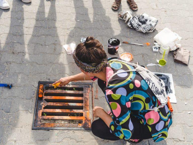 raubdruckerin manhole printing_Tulipando