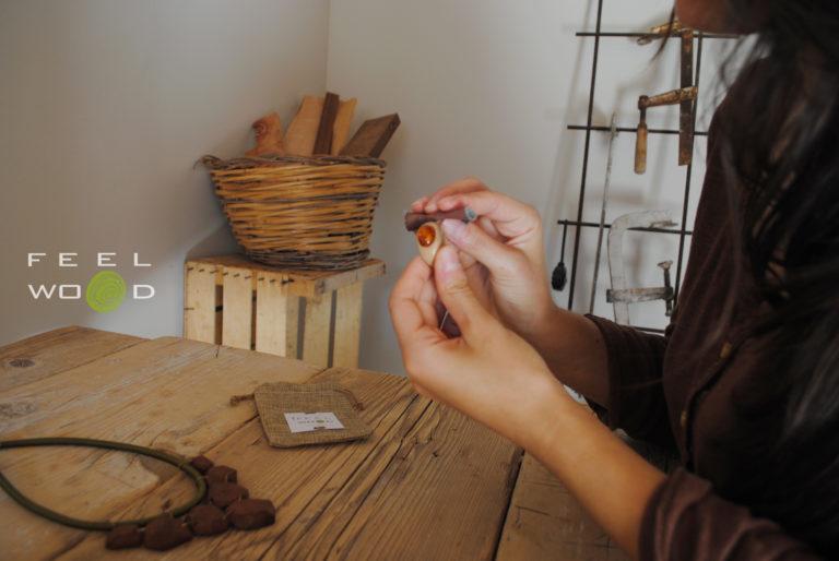 FeelWOODesign gioielli in legno_Tulipando