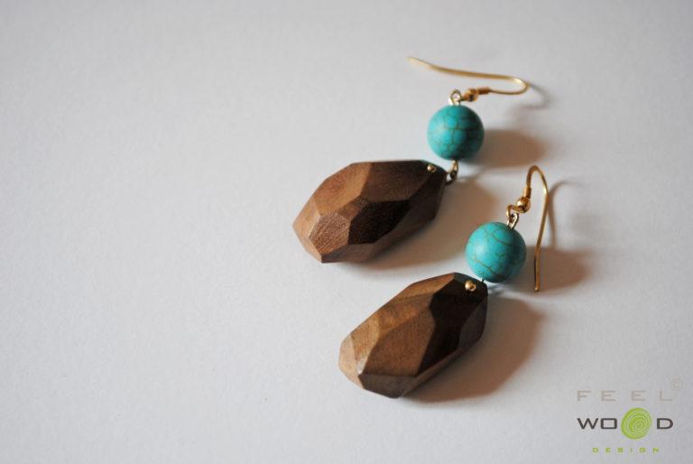 Orecchini FeelWOODesign gioielli in legno_Tulipando