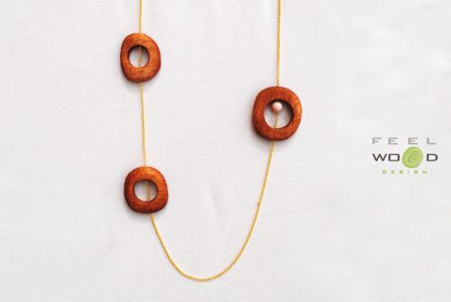 Collana pendente FeelWOODesign gioielli in legno_Tulipando