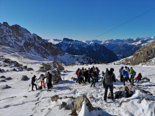 Ciaspolata Passo Pordoi Val di Fassa_Tulipando